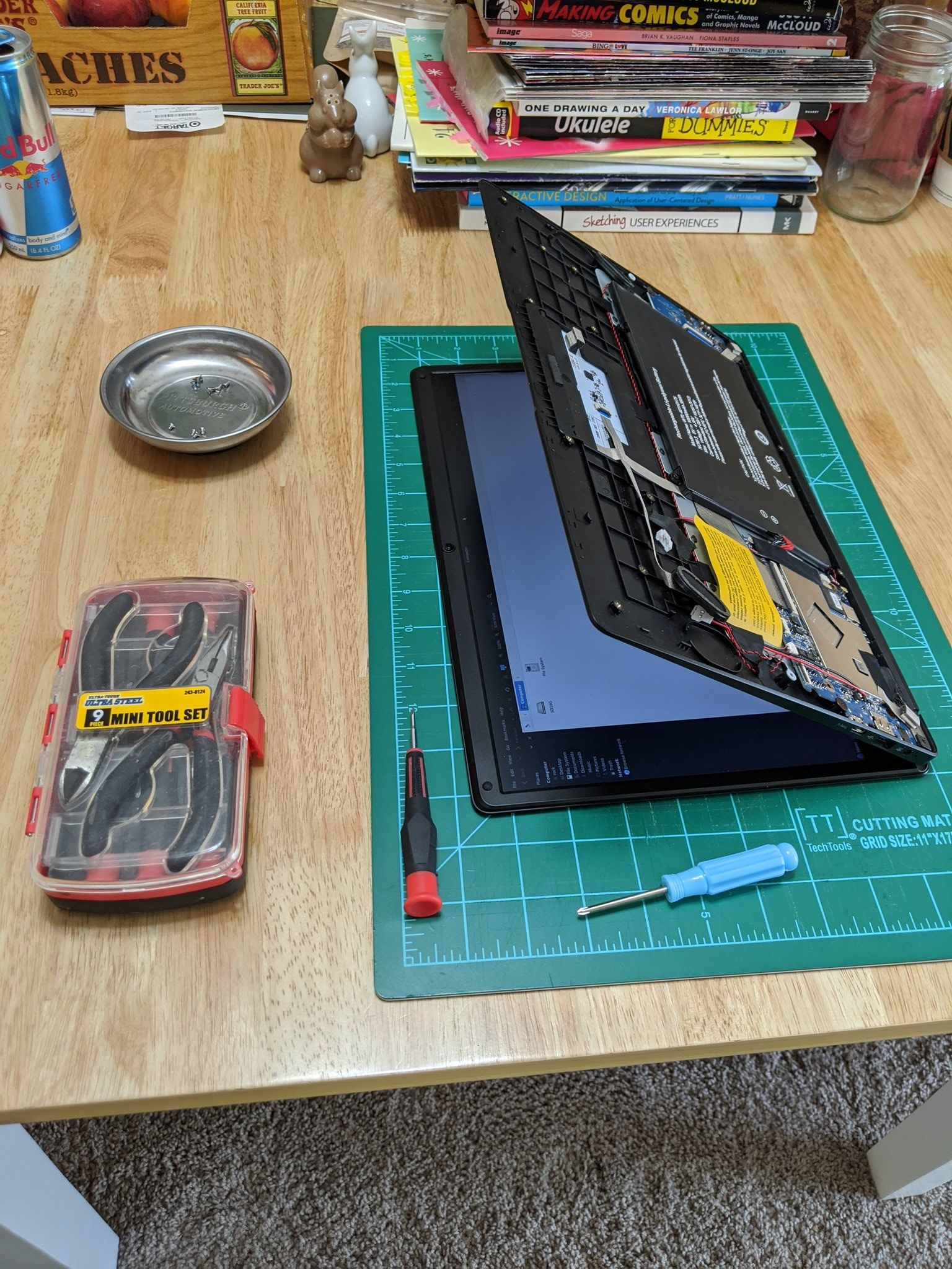 Pinebook Pro paritally disassembled